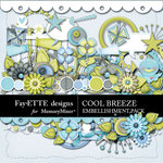 Cool Breeze Embellishment Pack-$3.49 (Ettes and Company by Fayette)