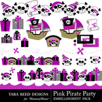 Pink Pirate Party Embellishment Pack-$2.99 (Tara Reed Designs)