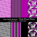 Pink Pirate Party Paper Pack-$2.49 (Tara Reed Designs)
