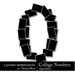 Collage Numbers-$3.99 (Lasting Impressions)