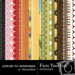 Farm Yard Fun Paper Pack-$2.00 (Albums to Remember)