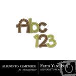 Farm Yard Fun Alpha-$1.49 (Albums to Remember)