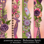 Bohemian Spirit Borders-$2.99 (Jumpstart Designs)