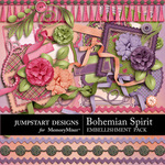Bohemian Spirit ADD ON Embellishment Pack-$2.99 (Jumpstart Designs)