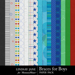 Braces For Boys Paper Pack-$3.49 (Lindsay Jane)