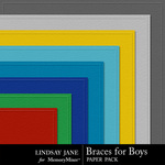 Braces For Boys Embossed Paper Pack-$1.99 (Lindsay Jane)