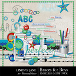 Braces For Boys Embellishment Pack-$3.49 (Lindsay Jane)