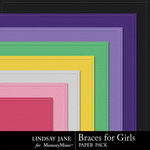 Braces For Girls Embossed Paper Pack-$1.99 (Lindsay Jane)