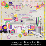 Braces For Girls Embellishment Pack-$3.49 (Lindsay Jane)