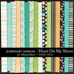 Heart On My Sleeve Paper Pack-$3.49 (Jumpstart Designs)