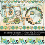 Heart On My Sleeve ADD ON Embellishment Pack-$3.99 (Jumpstart Designs)