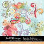 Painting Rainbows Spatters and Swirls-$2.49 (Fayette Designs)