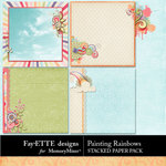 Painting Rainbows Stacked Paper-$2.49 (Fayette Designs)