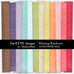Painting Rainbows Solid Paper-$2.99 (Ettes and Company by Fayette)
