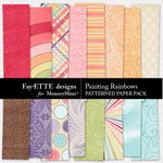 Painting Rainbows Patterned Paper-$2.99 (Ettes and Company by Fayette)
