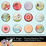 Painting Rainbows Flairs-$1.99 (Ettes and Company by Fayette)