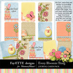 Every Bloomin Thing Journal Cards-$1.99 (Ettes and Company by Fayette)