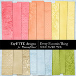 Every Bloomin Thing Solid Paper-$2.99 (Ettes and Company by Fayette)