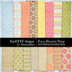 Every Bloomin Thing Patterned Paper-$2.99 (Ettes and Company by Fayette)