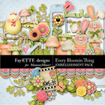 Every Bloomin Thing Embellishment-$1.75 (Fayette Designs)