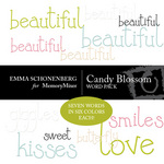 Candy Blossoms Word Embellishment Pack-$1.99 (Emma Schonenberg)