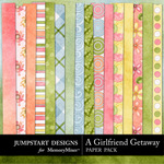 Girlfriend Getaway Paper Pack-$1.79 (Jumpstart Designs)