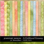 Girlfriend Getaway Embossed Paper Pack-$1.75 (Jumpstart Designs)