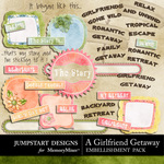 Girlfriend Getaway WordArt-$1.25 (Jumpstart Designs)