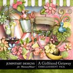 Girlfriend Getaway Embellishment Pack-$2.99 (Jumpstart Designs)