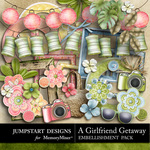 Girlfriend Getaway ADD ON Embellishment Pack-$2.39 (Jumpstart Designs)