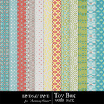 Toy Box Pattern Paper Pack-$1.99 (Lindsay Jane)