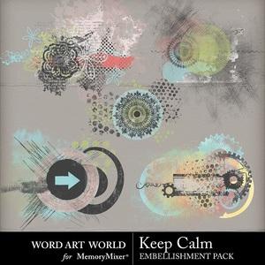 Keep calm paint splatters medium
