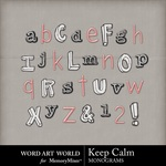 Keep Calm Alpha-$0.99 (Word Art World)