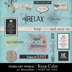 Keep Calm Word Art-$2.49 (Word Art World)