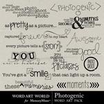 Photogenic word art small