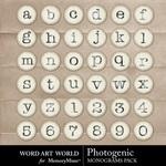 Photogenic monograms small