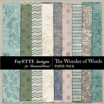 Wonder of Words Paper Pack-$3.99 (Fayette Designs)