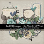Wonder of Words Embellishment Pack-$3.49 (Ettes and Company by Fayette)