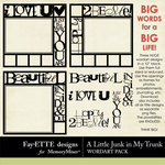 A Little Junk in My Trunk Big Words Pack-$2.99 (Ettes and Company by Fayette)