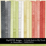 A Little Junk in My Trunk Paper Pack 2-$2.99 (Ettes and Company by Fayette)
