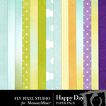 Happy Day Paper Pack-$3.49 (Fly Pixel Studio)