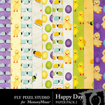 Happy Day Patterned Paper Pack-$1.75 (Fly Pixel Studio)