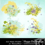 Happy Day Stamps-$1.00 (Fly Pixel Studio)