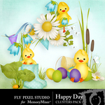 Happy Day Clusters-$1.00 (Fly Pixel Studio)