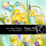 Happy Day Embellishment Pack-$1.50 (Fly Pixel Studio)