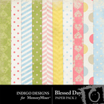 Blessed Day Patterned Paper Pack-$3.99 (Indigo Designs)