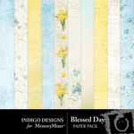 Blessed Day Paper Pack-$3.99 (Indigo Designs)