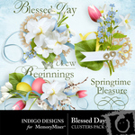 Blessed Day Cluster Pack-$1.99 (Indigo Designs)