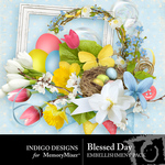Blessed Day Embellishment Pack-$2.99 (Indigo Designs)