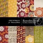 Retrofitted Fall Floral Paper Pack-$3.99 (Amy Sumrall)